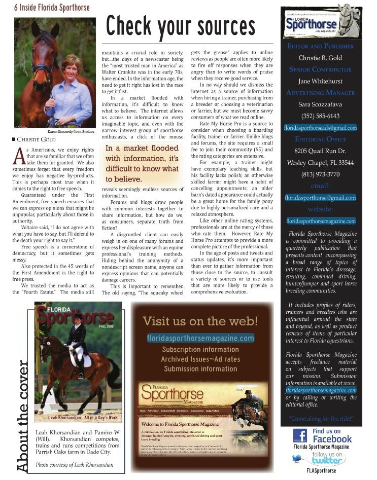 Horse Authority In the News