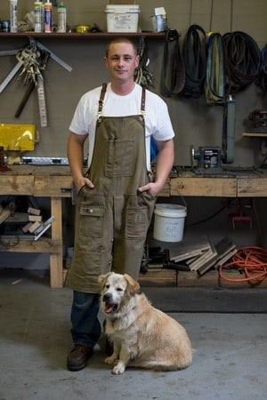 Jonathan Porter hand forges kitchen cutlery and an outdoor line of knives for his second business DogHouse Forge, with the support of business partners. It is this experience that got Porter tapped by The History Channel for the cutting edge competition.
