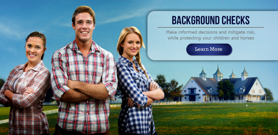 Online background checks for equine businesses