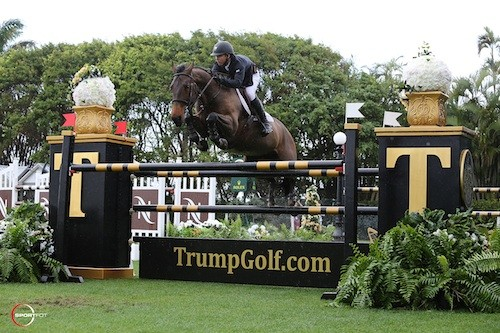 Kent Farrington and Blue Angel Trump Show Jumping Field at Mar-a-Lago