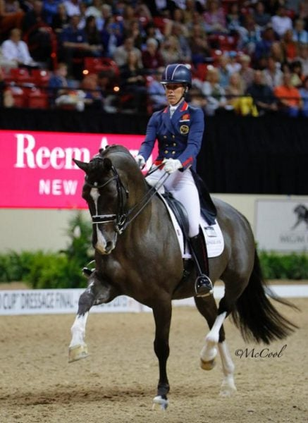 Great Britain's Charlotte Dujardin and Valegro Shine in Las Vegas
