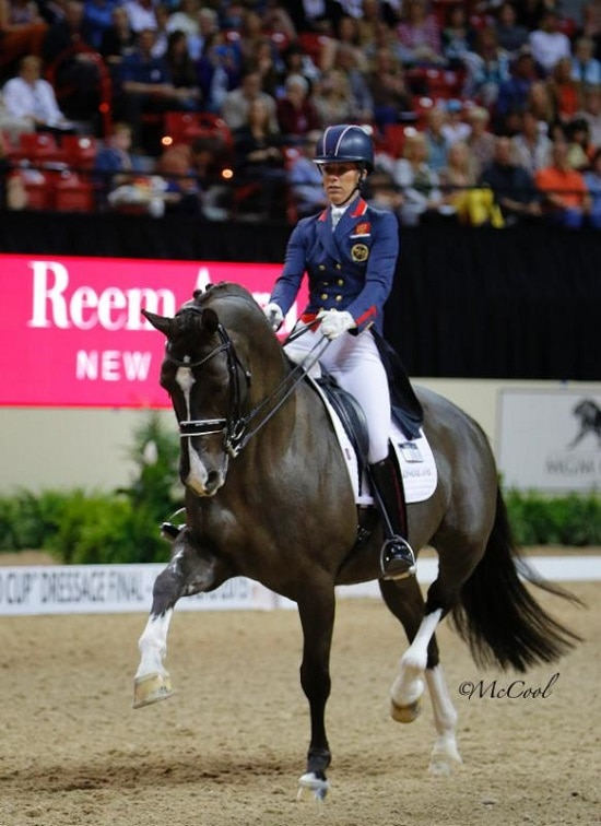 Great Britain's Charlotte Dujardin and Valegro Shine in Las Vegas