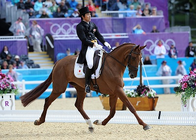 Japan Rider Steals Eventing Dressage Spotlight