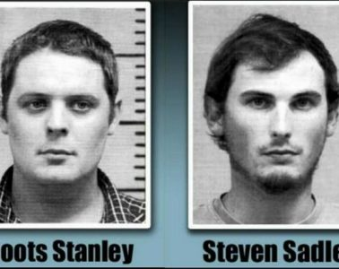 Boots Stanley and Steven Sadler were arraigned in a Louisiana court Tuesday for allegedly slitting a dog's throat.
