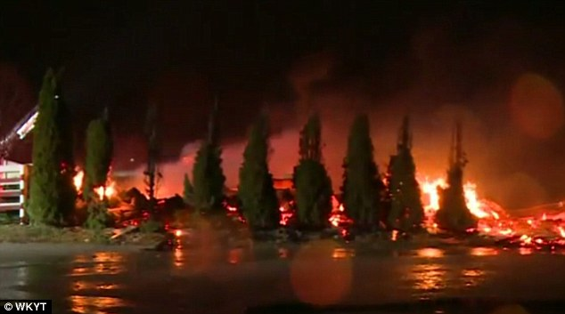 A barn fire kills 23 horses at Mercury Equine Center, a Lexington Thoroughbred training center.