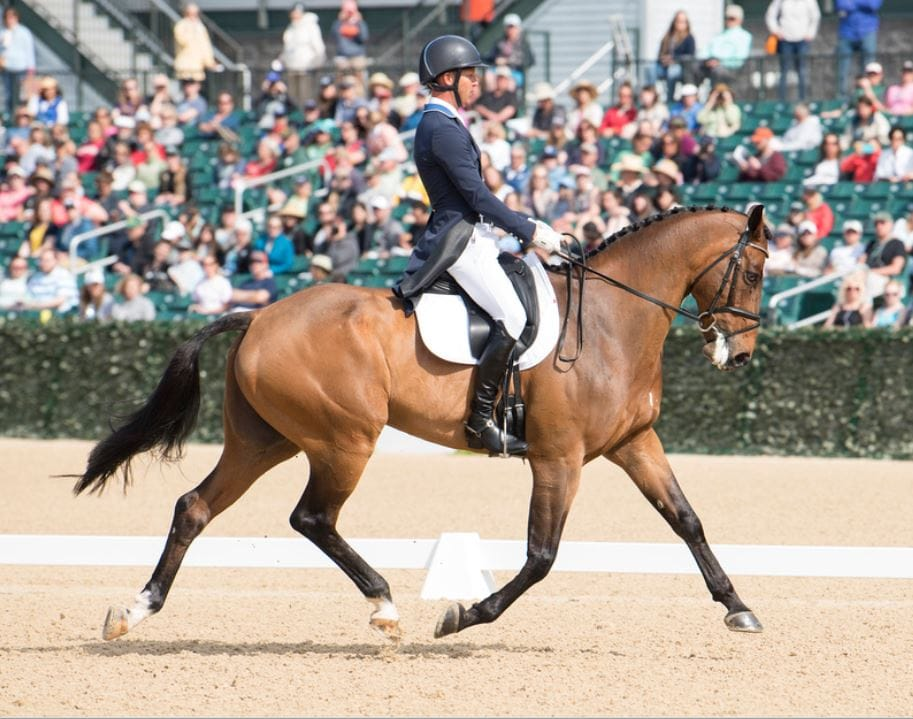 Clark Montgomery (USA) riding Loughan Glen during the Rolex Kentucky 3-Day Event at the Kentucky Horse Park in Lexington, Kentucky