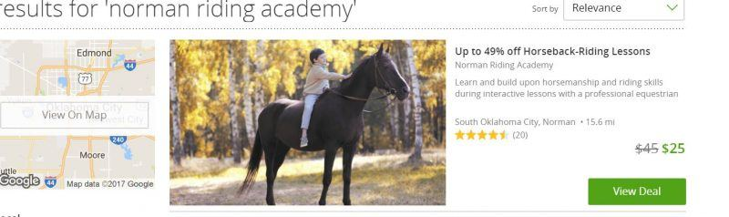 Convicted Federal Felon Ericka Benman aka Ericka K Smith continues selling Groupons for Norman Riding Academy