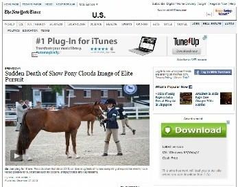 Sudden Death of Show Pony Clouds Image of Elite Pursuit