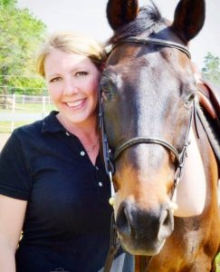 Kathryn Roan Dallas Equestrian Real Estate Agent with her Horse