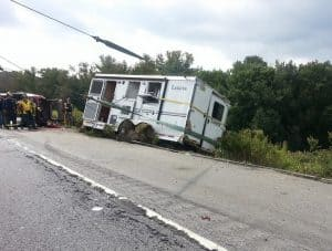 A horse trailer accident is included under named perils insurance.