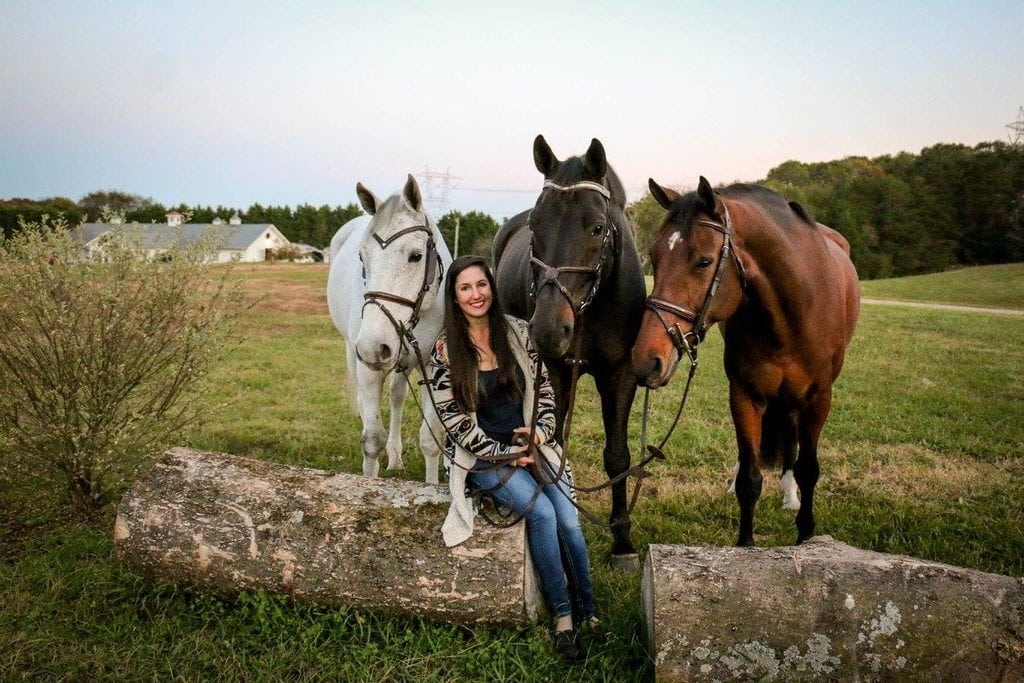 Haley Gassel amateur equestrian jumper with horses